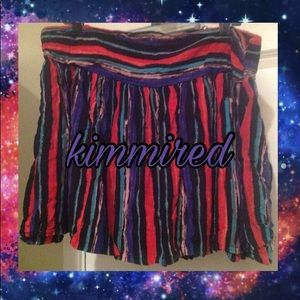 Dresses & Skirts - Cute Black/Red/Purple Striped Skirt ~ 3/3X